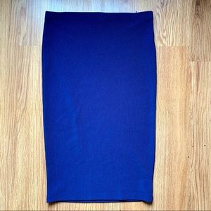 $5 BUY 2 GET 1 🆓 Navy F21 Stretch Pencil Skirt